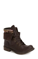 Women's Bp. 'Charlie' Foldover Cuff Bootie Brown Faux Leather