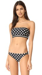 Kate Spade Polka Dot Bandeau Top Black