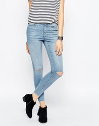 Noisy May Lucy Super Skinny Rip Knee Jean Blue