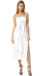 Shakuhachi Ready Or Knot Bandeau Midi Dress White