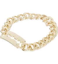 Mcq By Alexander Mcqueen Chunky Chain Bracelet Shiny Gold