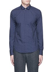 Scotch And Soda Dot Print Fixed Collar Shirt Multi Colour