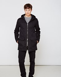 The Idle Man Lightweight Parka Coat Black