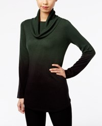 Ny Collection Cowl Neck Ombre Sweater Pine Grove Ombre
