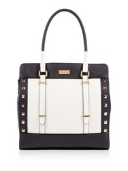Lipsy Black Stud Tote Bag Black