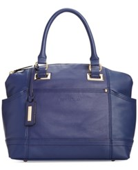 Tignanello Pretty Pockets Smooth Leather Convertible Satchel Ink