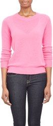 Barneys New York Cashmere Loose Knit Sweater Pink