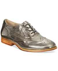 Wanted Babe Lace Up Oxfords Women's Shoes Pewter