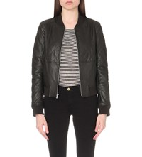 Paige Zoey Leather Jacket Black