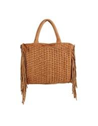 Day And Mood Lily Fringe Leather Satchel Camel