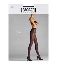 Wolford Ana Glitter Check Tights Female Brown