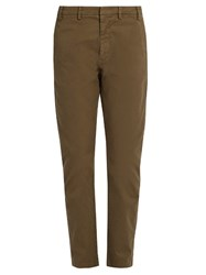 N 21 Mid Rise Slim Leg Stretch Cotton Chino Trousers Khaki