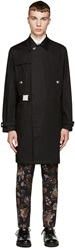 Versus Black Belted Trench Anthony Vaccarello Edition Coat