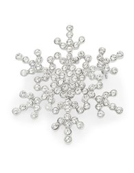 Design Lab Lord And Taylor Pave Snowflake Pin Silver