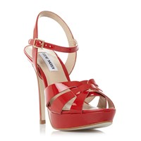 Steve Madden Kaiden Strappy Platform Sandals Red