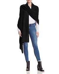 Bloomingdale's C By Cashmere Travel Wrap Black