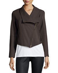 Eileen Fisher Fisher Project Leather Draped Jacket Women's