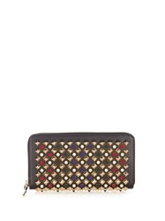 Christian Louboutin Panettone Spike Embellished Leather Wallet Black Multi