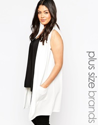 New Look Inspire Sleeveless Blazer White