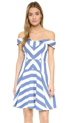 Milly Graphic Stripe Mariella Dress Blue