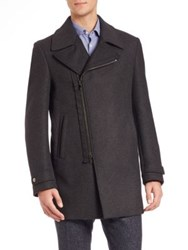 Z Zegna Double Face Wool Felt Coat