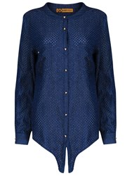 Relish Allison Denim Long Sleeves Shirt Blue