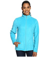 Woolrich Andes Fleece Jacket Peacock Blue Women's Coat