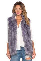 Lovers Friends X Revolve Camille Faux Fur Vest Gray