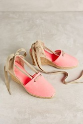 Anthropologie Penelope Chilvers Espadrille Wedges Pink 37 Euro Flats