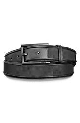 Tumi Leather And Ballistic Nylon Belt Black Black