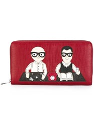 Dolce And Gabbana Designer's Patch Wallet Red