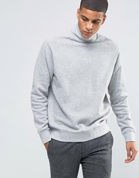 Weekday Brink Sweater Turtle Neck Sweatshirt 06 101 Melange Grey
