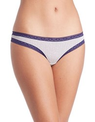 Kensie Jane Thong Canvas Stripe