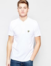 Lyle And Scott Polo Shirt With Bomber Collar In White White
