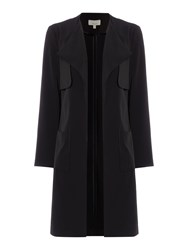 Linea Sarah Soft Tailored Duster Coat Black