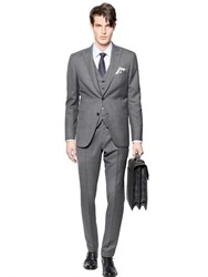 Brioni Bracciano Wool Silk 3 Pieces Check Suit