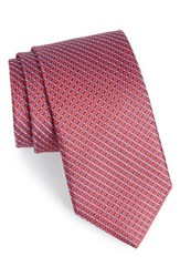 Men's John W. Nordstrom 'Raine Mini' Geo Print Silk Tie
