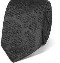 Dolce And Gabbana 6Cm Floral Silk Jacquard Tie Black