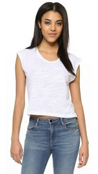 Lna Skater Crop Muscle Tank White