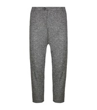 Lot 78 Speckled Wool Blend Trousers Male Grey