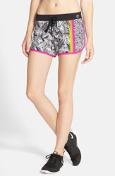 Trina Turk 'Harbour Island' Mix Print Shorts Pink Berry