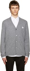 Acne Studios Grey Dasher Face Cardigan