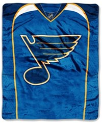 Northwest Company St. Louis Blues Raschel Stamp Blanket