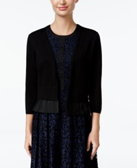 Tommy Hilfiger Ruffle Trim Shrug Cardigan Black