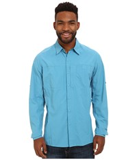 Kuhl Wunderer Ocean Blue Men's Long Sleeve Button Up