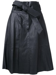 Desa 1972 Panelled Flared Skirt Black