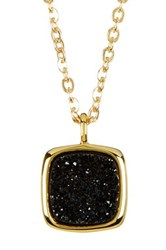 Sonya Renee 10Mm Cushion Droplet Necklace Black