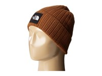 The North Face Logo Boxed Cuffed Beanie Gingerbread Brown Beanies