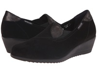 Mephisto Giacinta Black Velcalf Premium Dark Grey Podium Women's Wedge Shoes