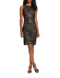 Lauren Ralph Lauren Candice Sleeveless Evening Dress Black Sequins
